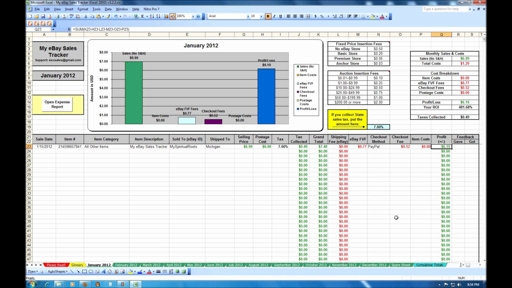 Inventory And Sales Spreadsheet For Excel Template For Inventory Control Retail And Sales Manager