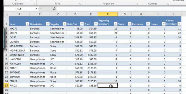 Inventory And Sales Spreadsheet In Inventory Management Excel Spreadsheet Control To Help With Ordering