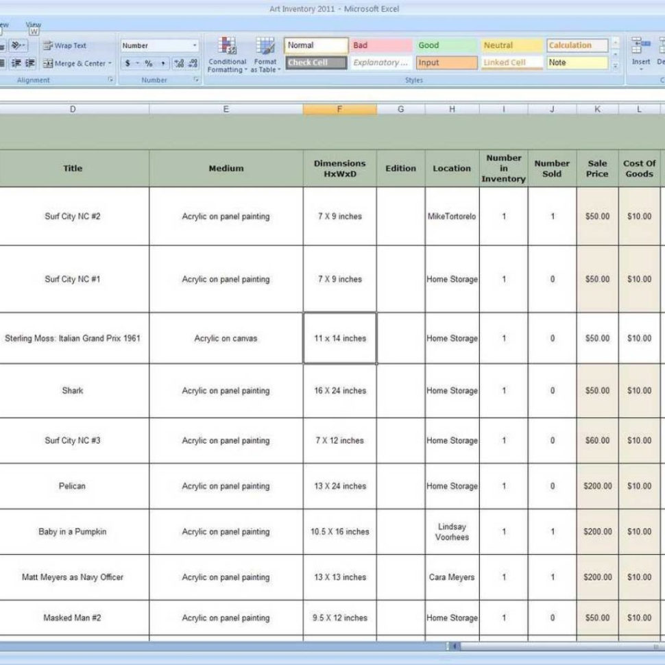 Inventory Control Excel Spreadsheet With Excel Templates For Inventory Control  Laobingkaisuo Throughout