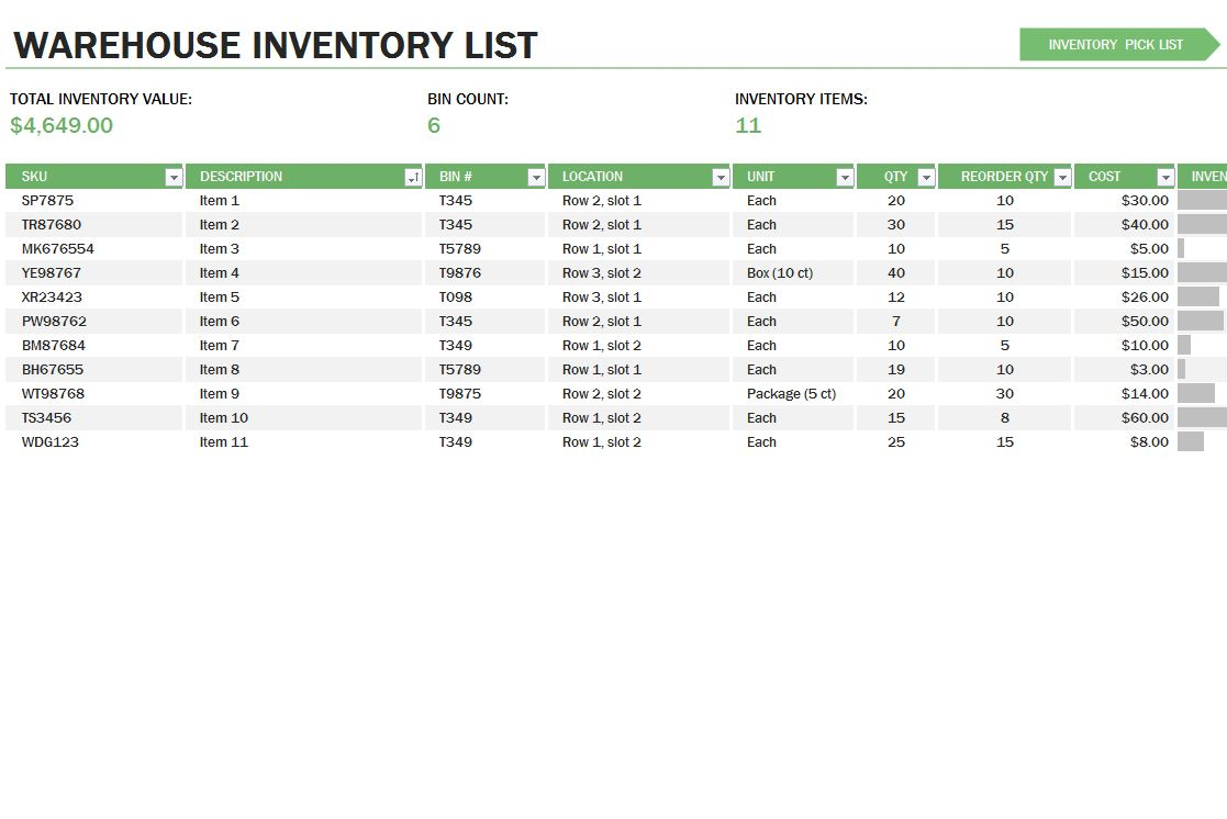 Inventory Control Excel Spreadsheet With Regard To Excel Spreadsheet For Inventory Management Retail Template Formulas