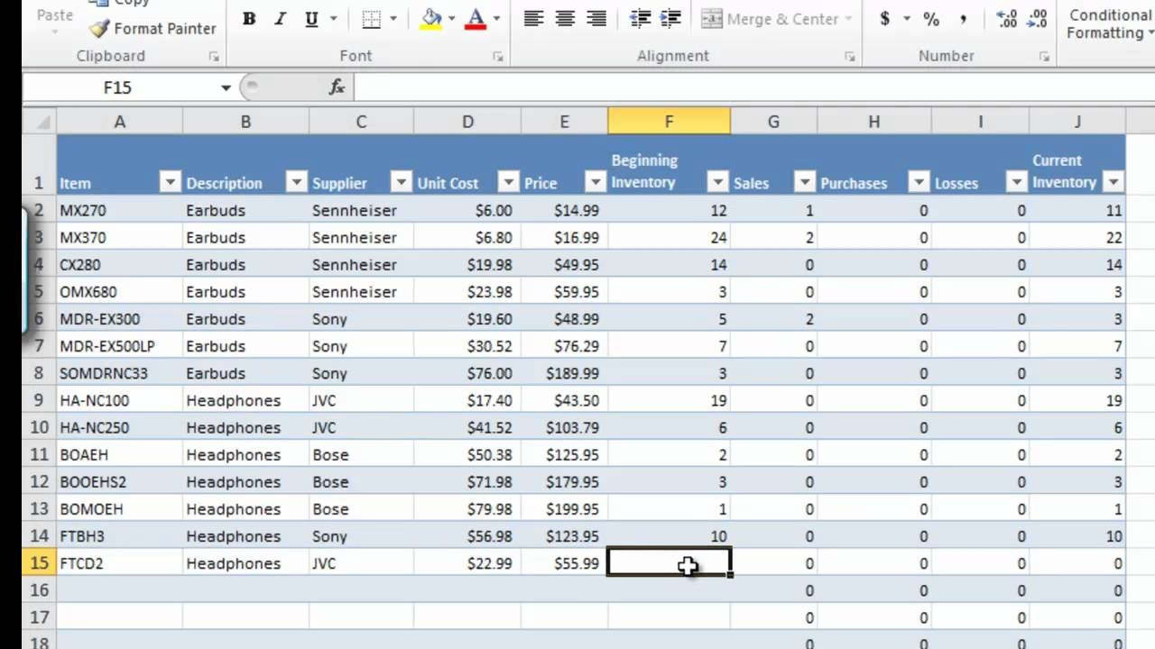 Inventory Control Spreadsheet Template within Excel Spreadsheet For Inventory Management Control Retail Ordering