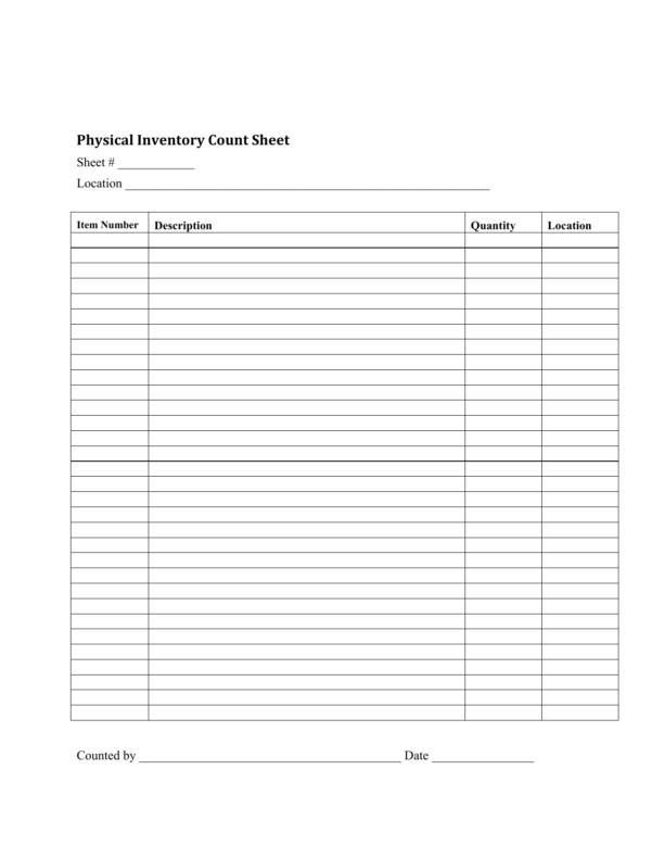 Inventory Count Spreadsheet Within Download Inventory Checklist Template  Excel  Pdf  Rtf  Word