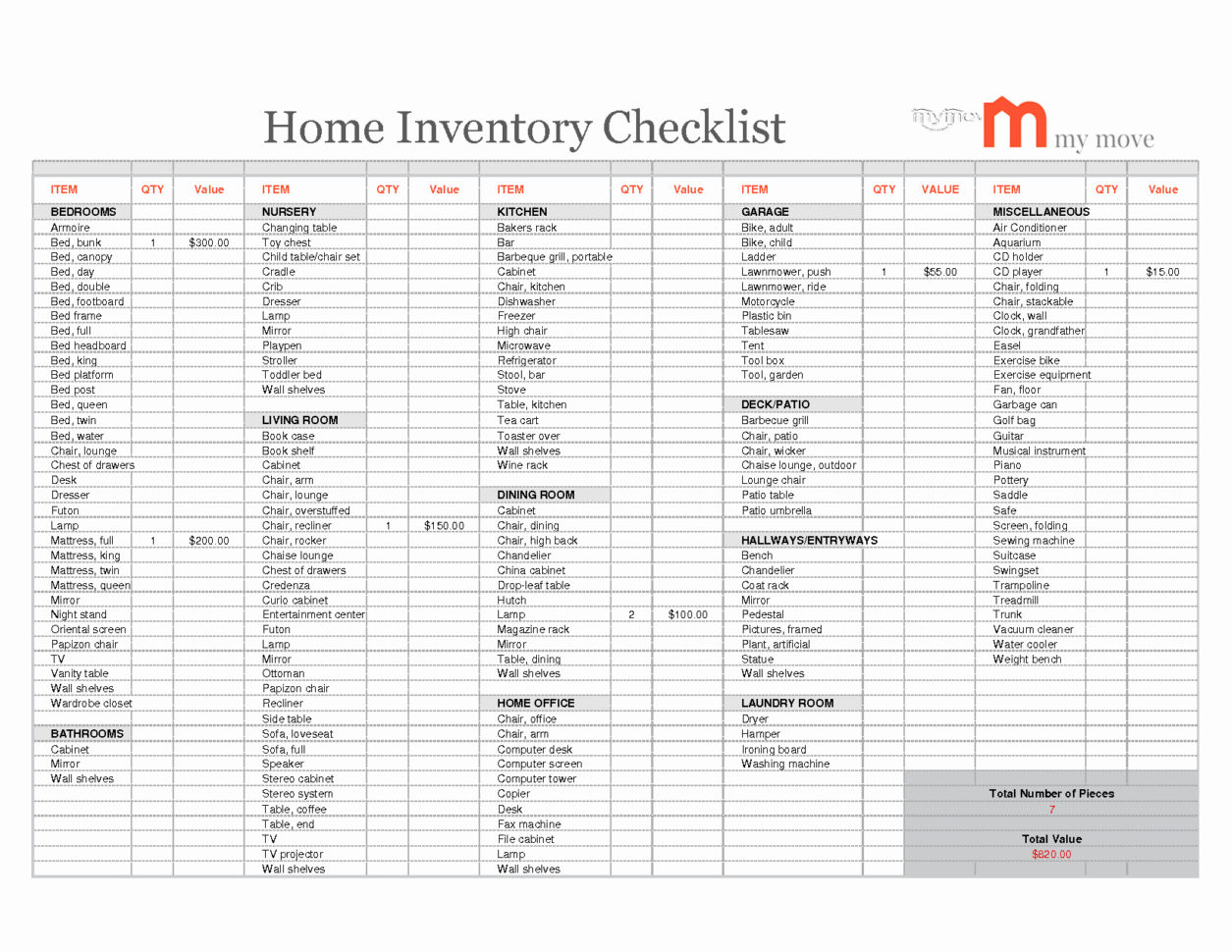 Inventory Household Items Excel Spreadsheet In Household Inventory Spreadsheet Home Google Docs Excel For Moving