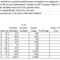 Inventory Sales Spreadsheet With Solved: Questions: Complete The Excel Spreadsheet For The