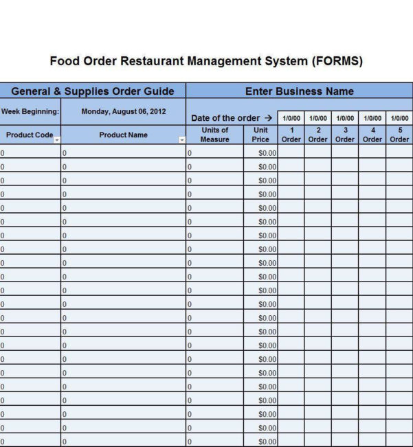 Inventory Spreadsheet App In Restaurant Inventory Management App Sample Sheet For Free