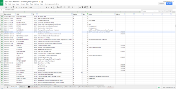 Inventory Spreadsheet Google Intended For Lowcost Inventory Management Technique