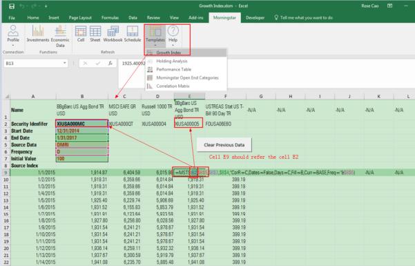Investment Portfolio Excel Spreadsheet In Morningstar Excel Addin