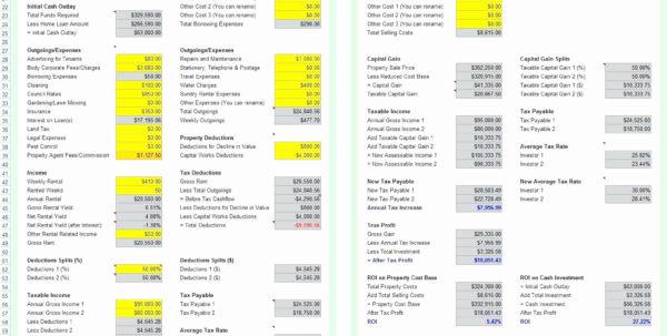 Investment Property Spreadsheet Excel Inside Investment Property Calculator Excel Spreadsheet And How Do I
