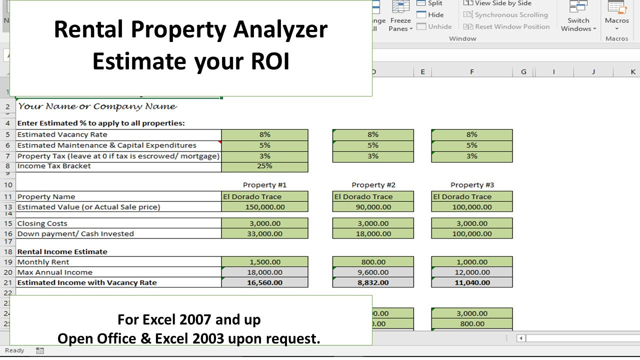 Investment Property Spreadsheet Excel Within Investment Property Calculator Excel Spreadsheet With How To Create