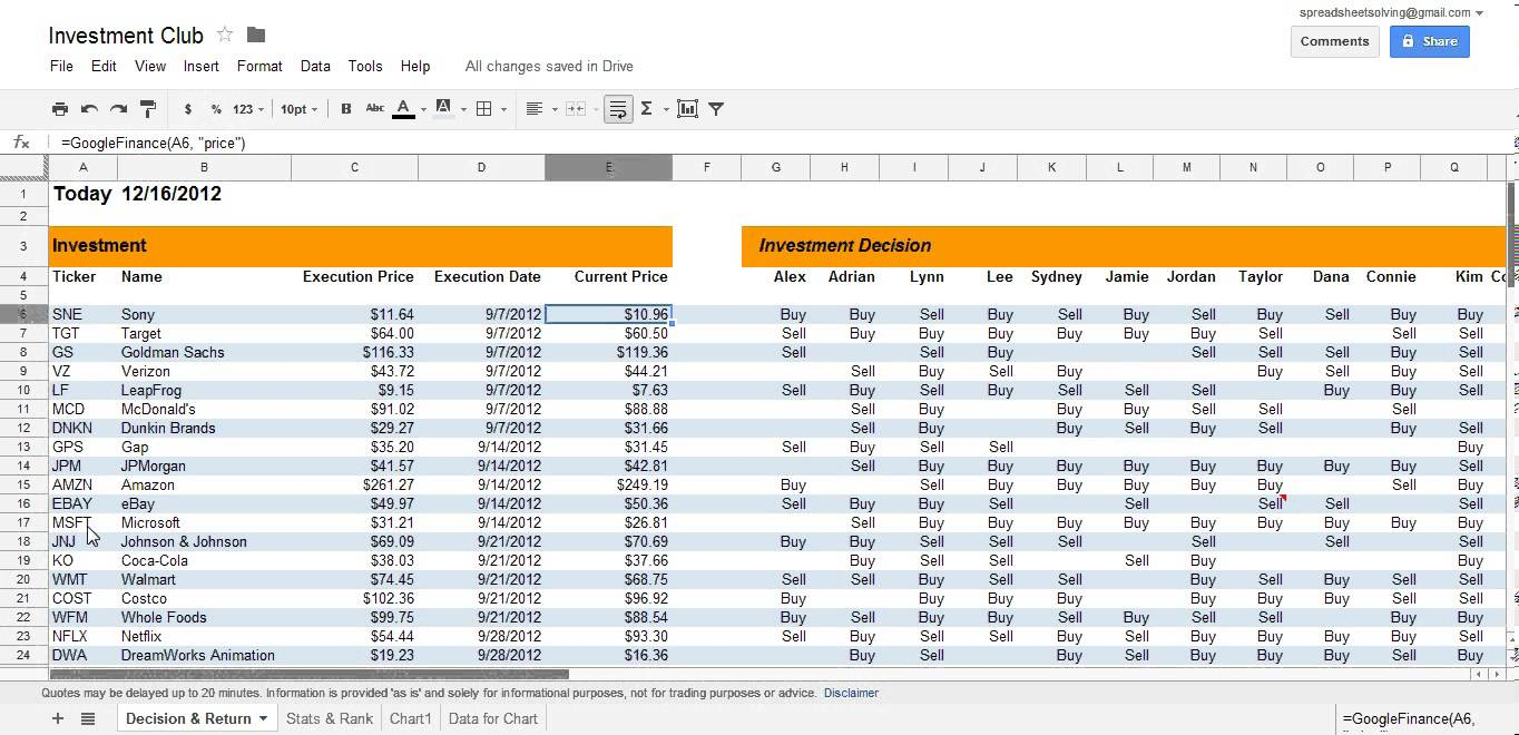 Investment Spreadsheet Excel With Excel Investment Spreadsheet As Personal Finance Club Stock Download