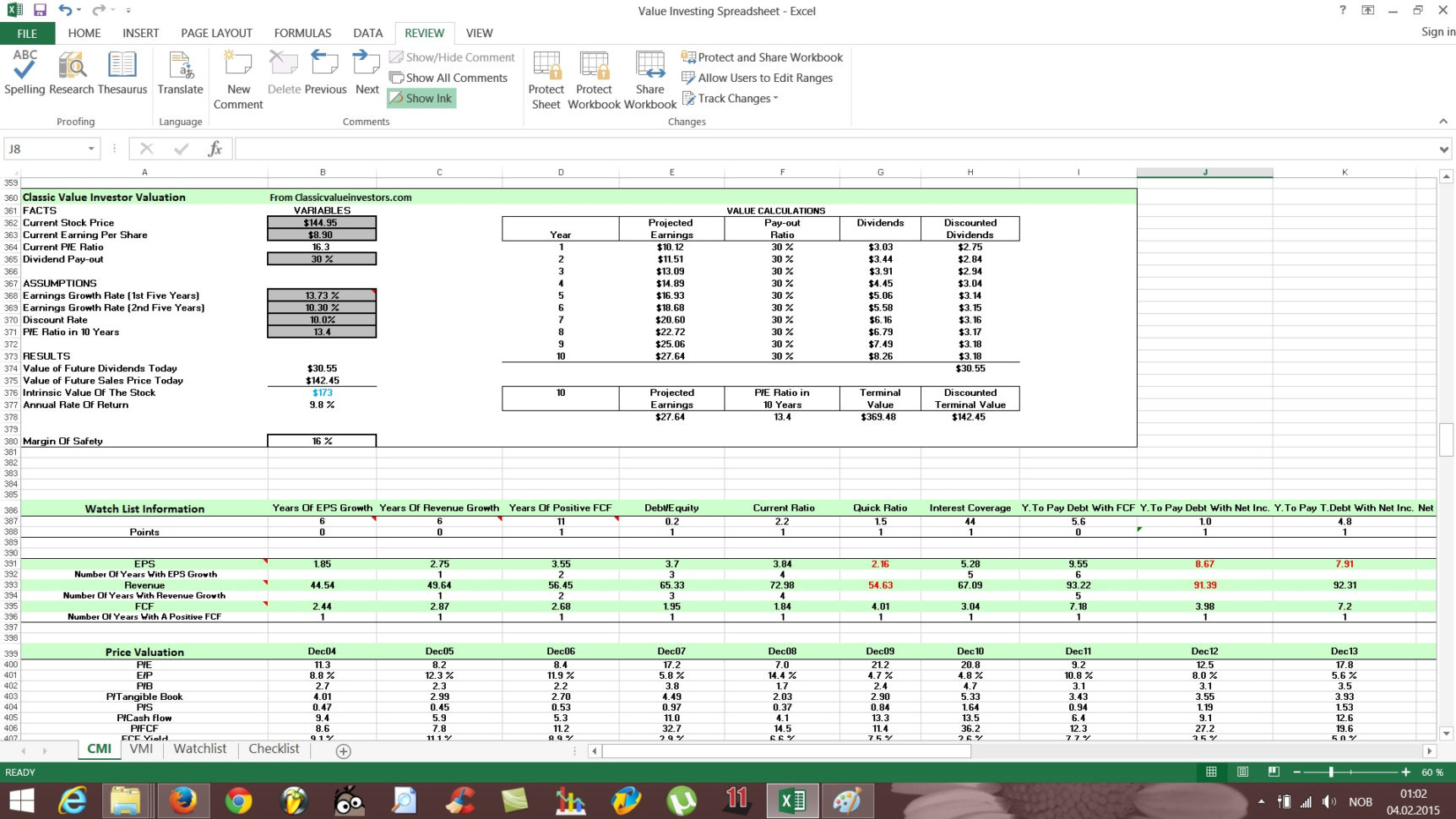 Investment Spreadsheet Pertaining To Free Value Investing Stock Spreadsheet