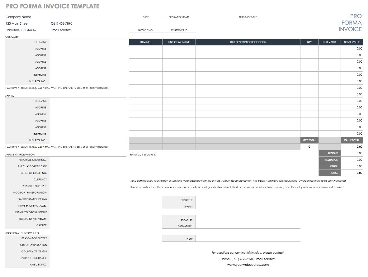 Invoice Spreadsheet Template For Free Excel Invoice Templates  Smartsheet