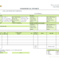 Invoice Spreadsheet Template Free For Commercial Invoice Templates  20 Results Found