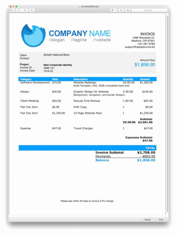 Invoice Spreadsheet Template Free Throughout Filemaker Pro Invoice Templates Free With Template Download Plus