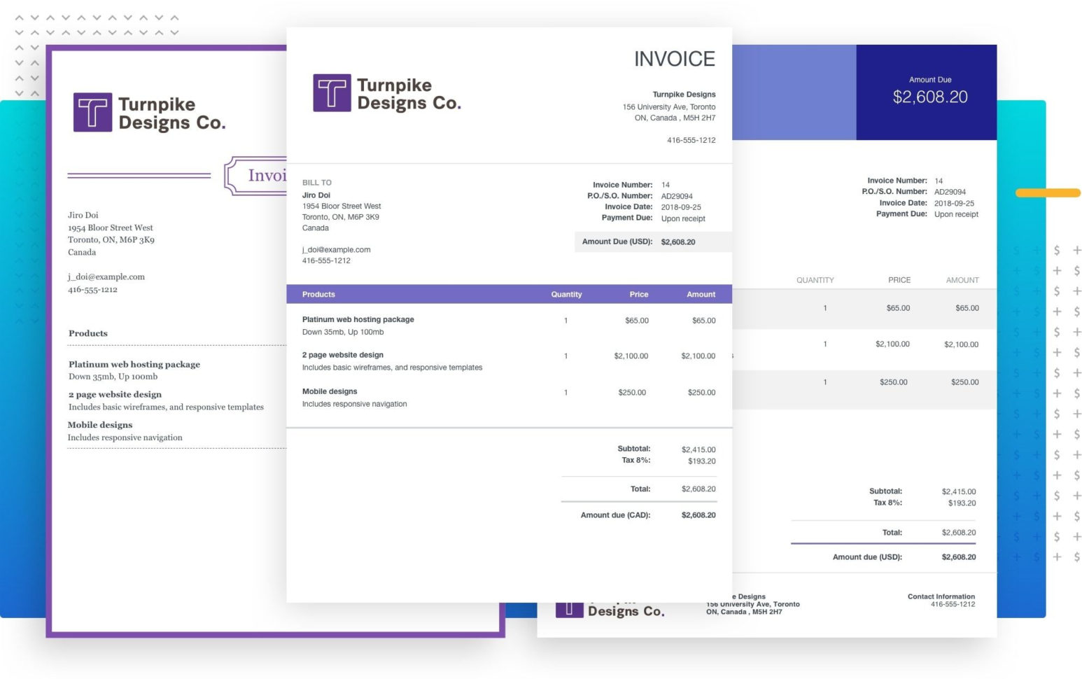 Invoice Spreadsheet Template With Regard To Send Professional Invoices For Free—Invoicewave