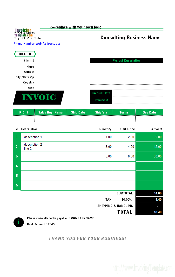 Invoice Spreadsheet Template Within Free Invoice Templates For Excel