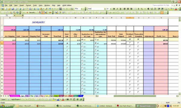 Invoice Tracking Spreadsheet Pertaining To Sample Invoice Tracking Spreadsheet Ebay Spreadsheet Template