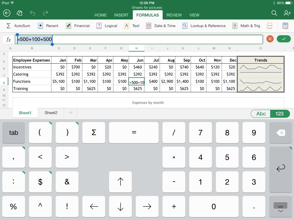 Ipad Pro Excel Spreadsheet For Excel For Ipad: The Macworld Review  Macworld