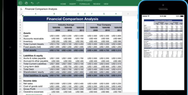 Ipad Pro Excel Spreadsheet Pertaining To Templates For Excel For Ipad, Iphone, And Ipod Touch  Made For Use