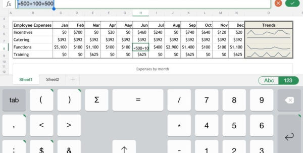 Ipad Spreadsheet Excel Compatible For Spreadsheet For Ipad Compatible With Excel The Numeric Keyboard