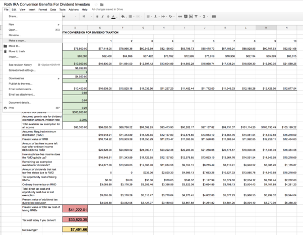 Ira Excel Spreadsheet Inside Roth Ira Conversion Spreadsheet  Seeking Alpha