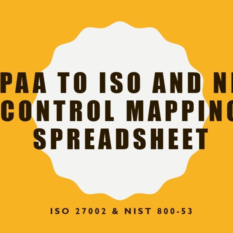 Iso 27002 Controls Spreadsheet Inside Hipaa Mapping To Iso 27002 And Nist 80053 Controls – Awareness