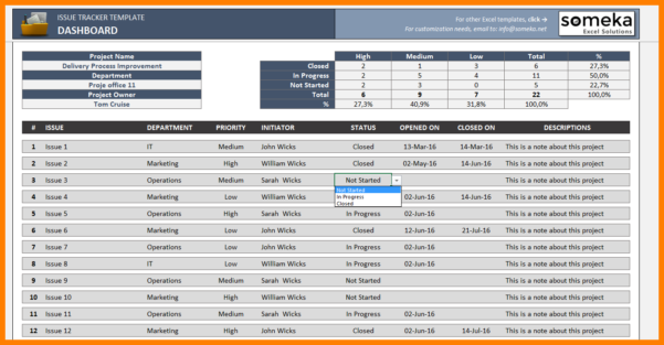 Issue Tracking Spreadsheet Template Throughout 6  Issue Tracking Spreadsheet Template Excel  Credit Spreadsheet