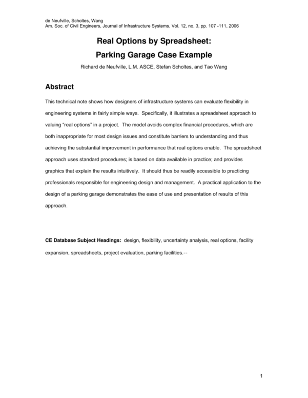 Ite Parking Generation Spreadsheet Inside Pdf Alternative Approach For Forecasting Parking Volumes