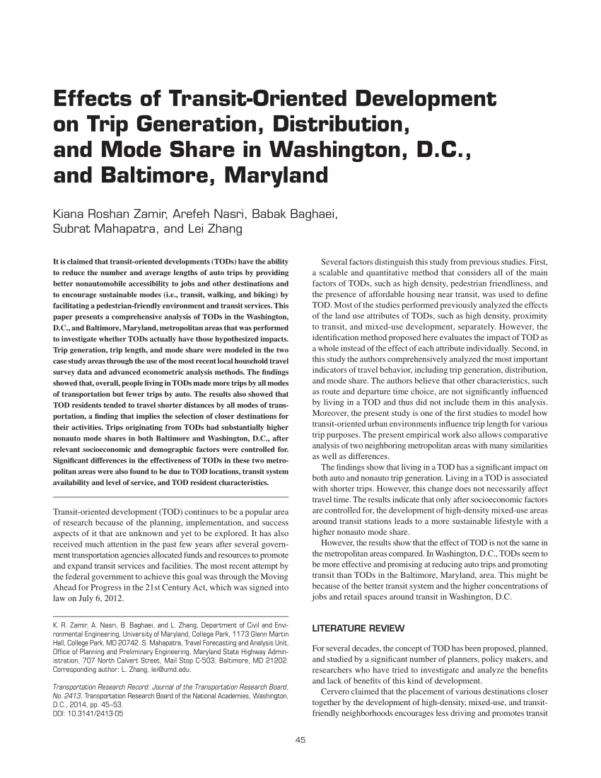 Ite Parking Generation Spreadsheet Throughout Trip And Parking Generation At Transitoriented Developments: A Case