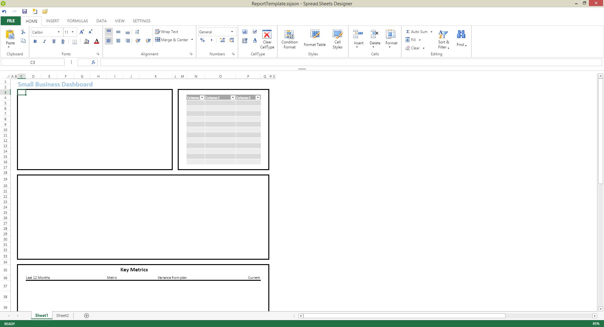 Javascript Spreadsheet In Creating A Javascript Report  Spread
