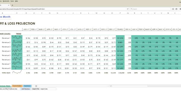 Javascript Spreadsheet In Example Of Api Calculation Spreadsheet How To Importexport Excel