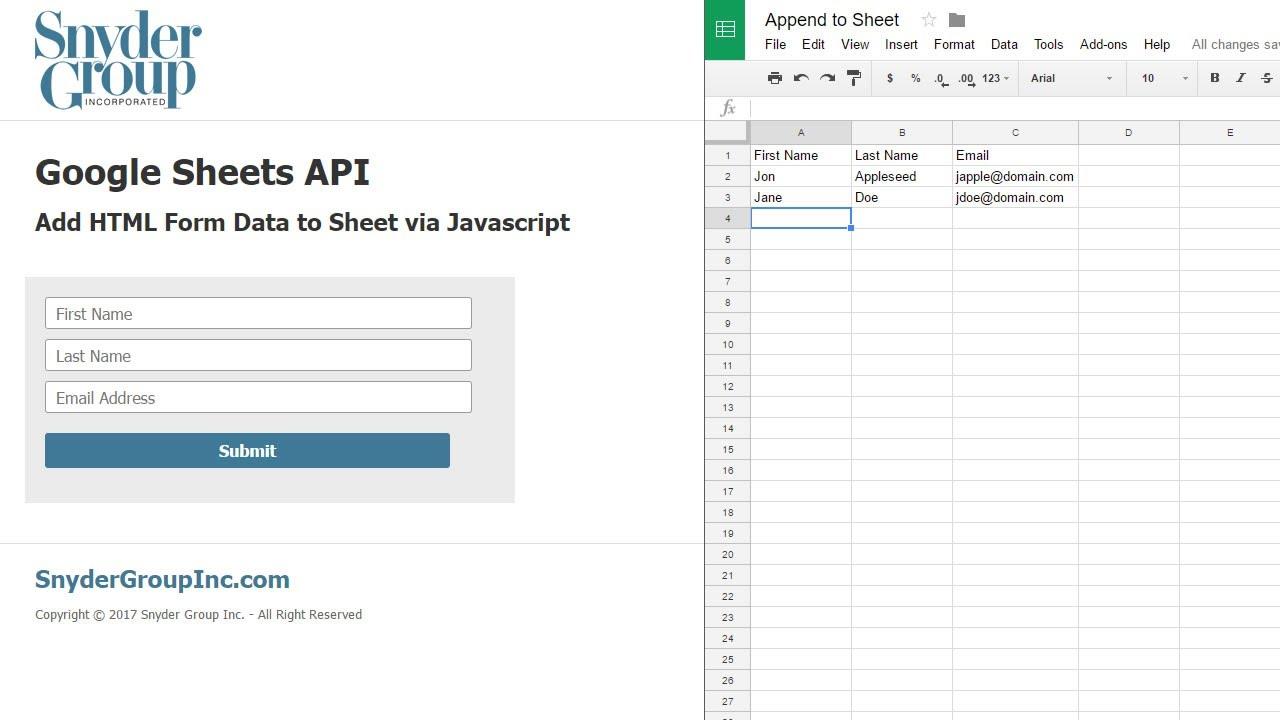 Javascript Spreadsheet in Maxresdefault Sheet Javascripteadsheet Api Google Sheets Html Form