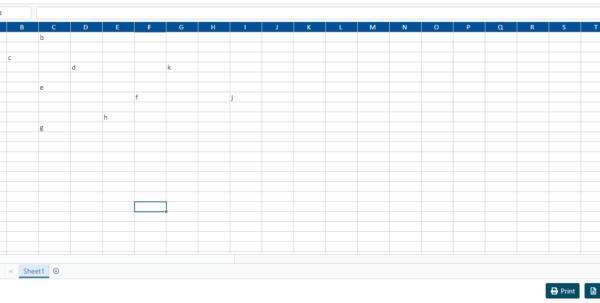javascript spreadsheet widget