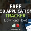 Job Application Tracker Spreadsheet Pertaining To Job Application Tracker  Free Pdf  Excel Job Application Tracker