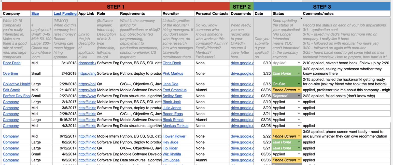 Job Application Tracker Spreadsheet Throughout Practical Guide To Navigate Your Internship Hunt – Codepath – Medium Job Application Tracker Spreadsheet Google Spreadshee Google Spreadshee job search tracker spreadsheet