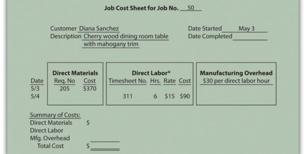 Job Cost Analysis Spreadsheet Within How Is Job Costing Used To Track Production Costs?