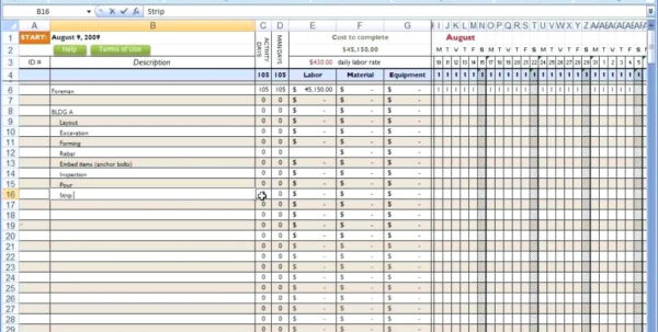 Job Cost Spreadsheet Template Pertaining To Construction Job Costing Spreadsheet As Well With Cost Estimate