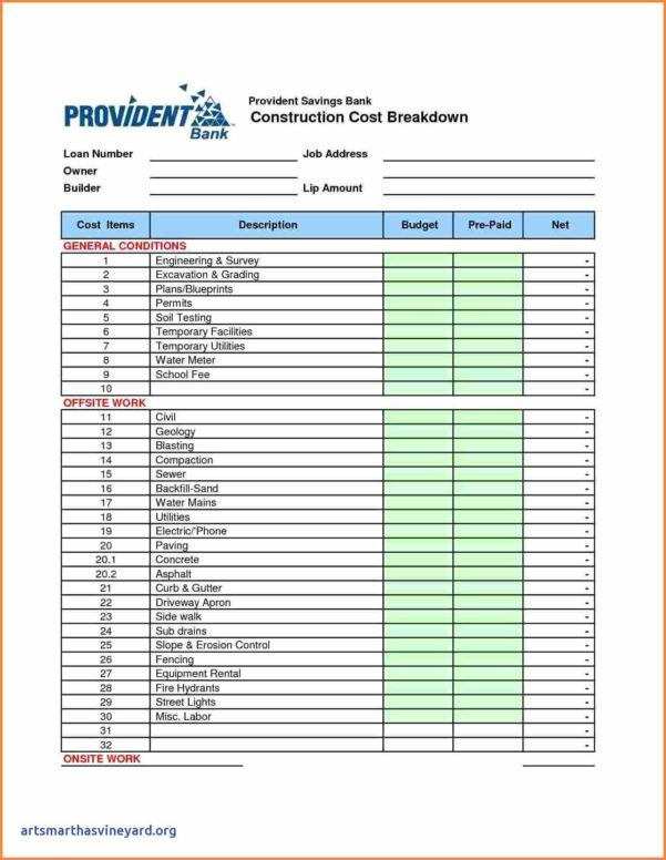 Job Cost Spreadsheet Template With Construction Cost Spreadsheet Template Then Construction Job Costing