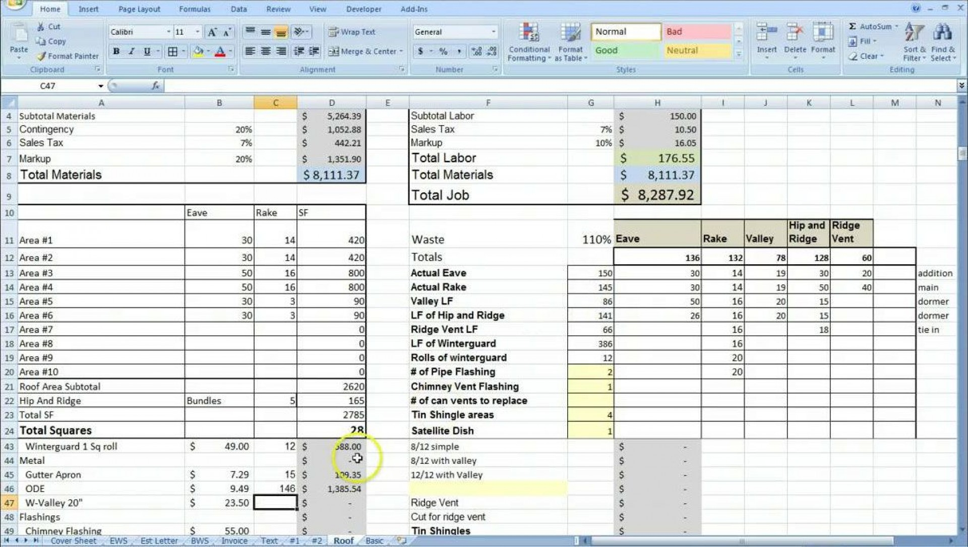 job costing spreadsheet excel with 002 template ideas. Black Bedroom Furniture Sets. Home Design Ideas