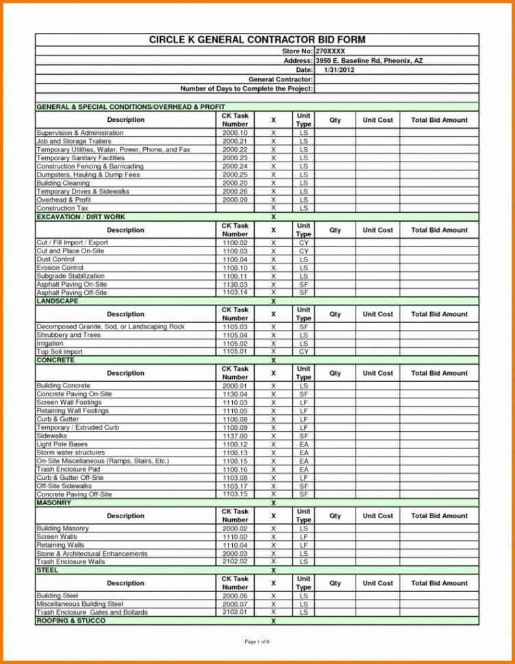 job costing spreadsheet with construction job costing