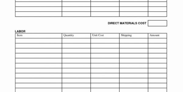 Job Management Spreadsheet With Bill Estimate Template Free Management Spreadsheet Luxury Printable
