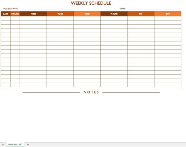Job Scheduling Spreadsheet Pertaining To Free Work Schedule Templates For Word And Excel