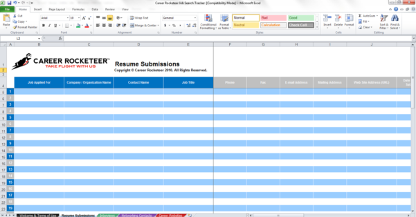 Job Search Spreadsheet Google Sheets Inside Applicant Tracking Spreadsheet Template Job Search Free Tracker