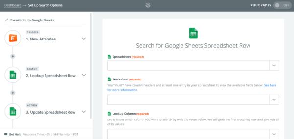 Job Search Spreadsheet Google Sheets Regarding Automate Google Sheets: Search For Existing Rows  Updates  Zapier