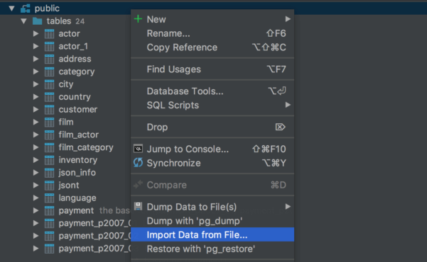 Json Spreadsheet Editor Intended For Import/export Options From Csv To Database  Features  Datagrip