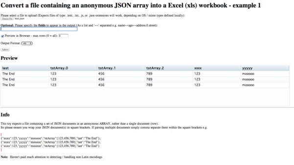 Json To Spreadsheet Converter Throughout Using Perl To Preview In A Web Page And Convert A Json Document Into