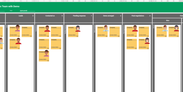 Kanban Metrics Spreadsheet Pertaining To 4 Kanban Boards For Sales Team, Excel Free Download Excel And Kanban Metrics Spreadsheet Spreadsheet Download