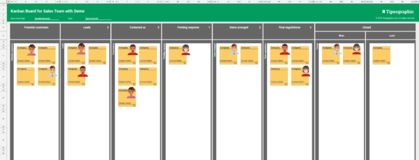 Kanban Metrics Spreadsheet Pertaining To 4 Kanban Boards For Sales Team, Excel Free Download Excel And