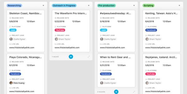 Kanban Spreadsheet In The Allinone Collaboration Platform  Airtable