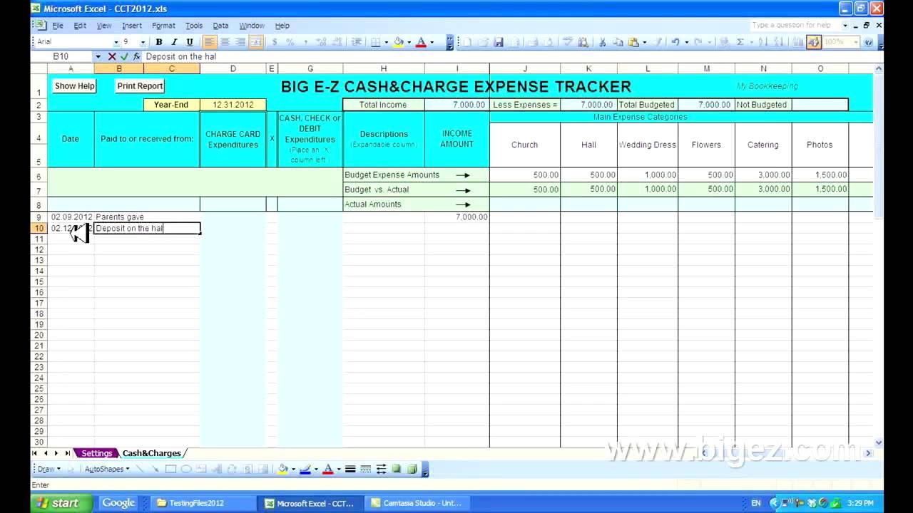 Keeping Track Of Spending Spreadsheet Inside Keeping Track Of Spending Spreadsheet  Homebiz4U2Profit